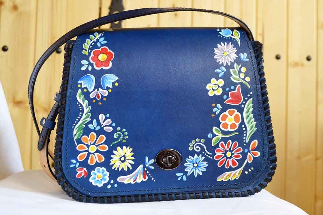 Kožená kabelka L maľovaná vzor 524 - Výrobky z kože - kožené výrobky ... 0c90639c59c
