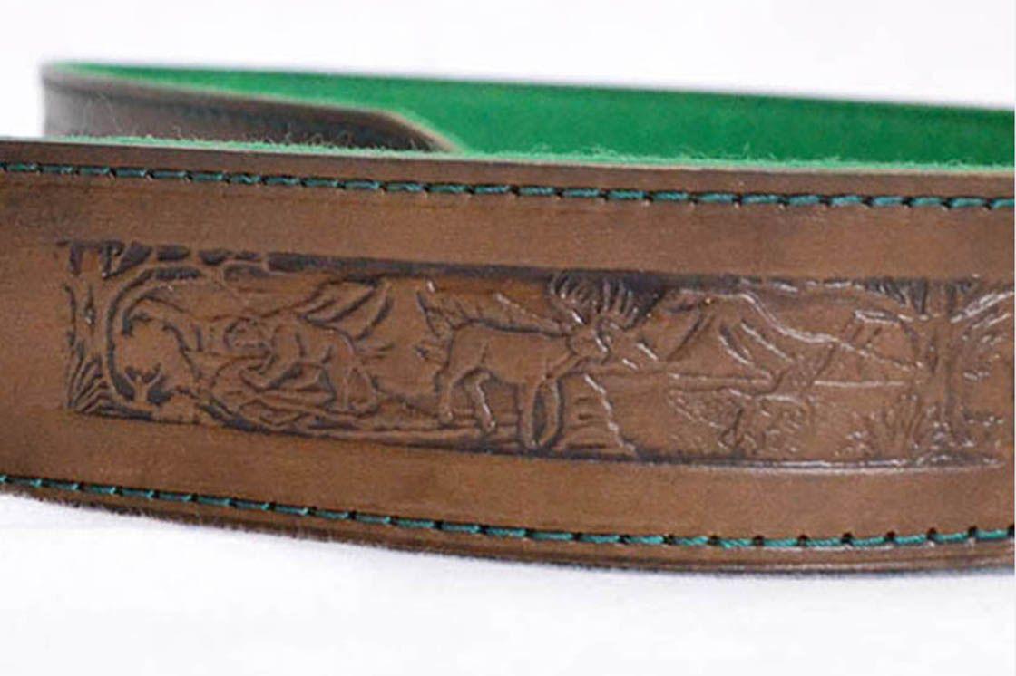 0778c976c Kožený remeň na pušku 5cm 437 - Výrobky z kože - kožené výrobky ...