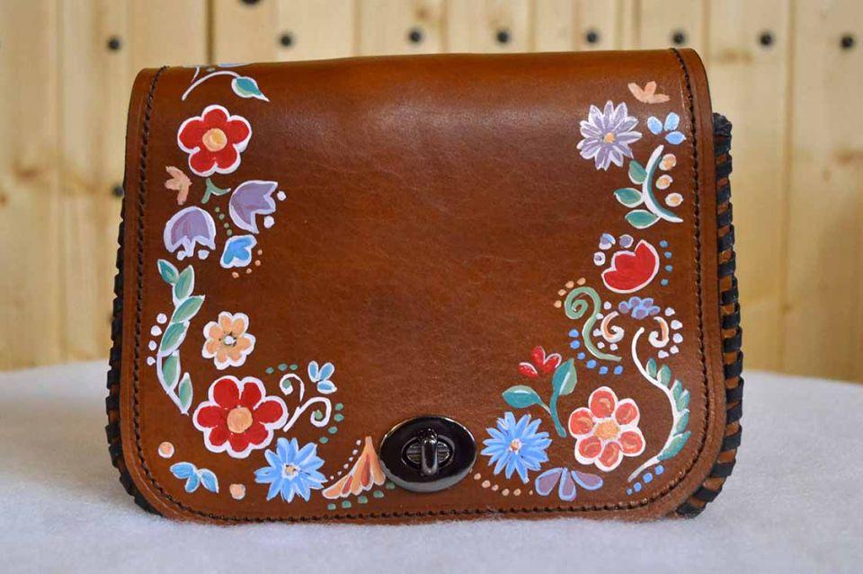 Kožená kabelka S maľovaná 514 3e45c7b764a